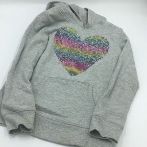 CIRCO GRAY  SWEATSHIRT  WITH A HEART ON FRONT